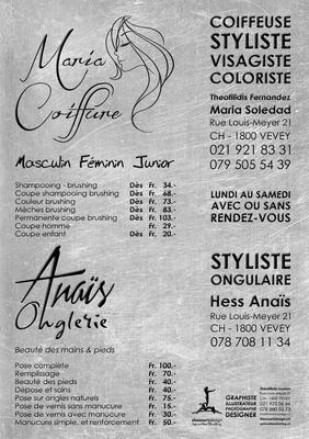 FLYERS MARIA COIFFURE & ANAIS ONGLERIE 2016