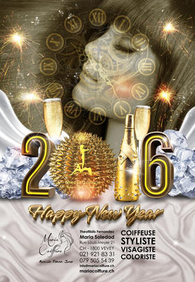NEW YEAR 2015 MARIA COIFFURE