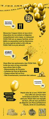 PIZZA TAXI 60 x 146